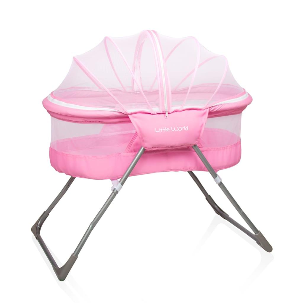 Afbeelding van Little World Reiswieg Snoozer roze LWBT002-PK