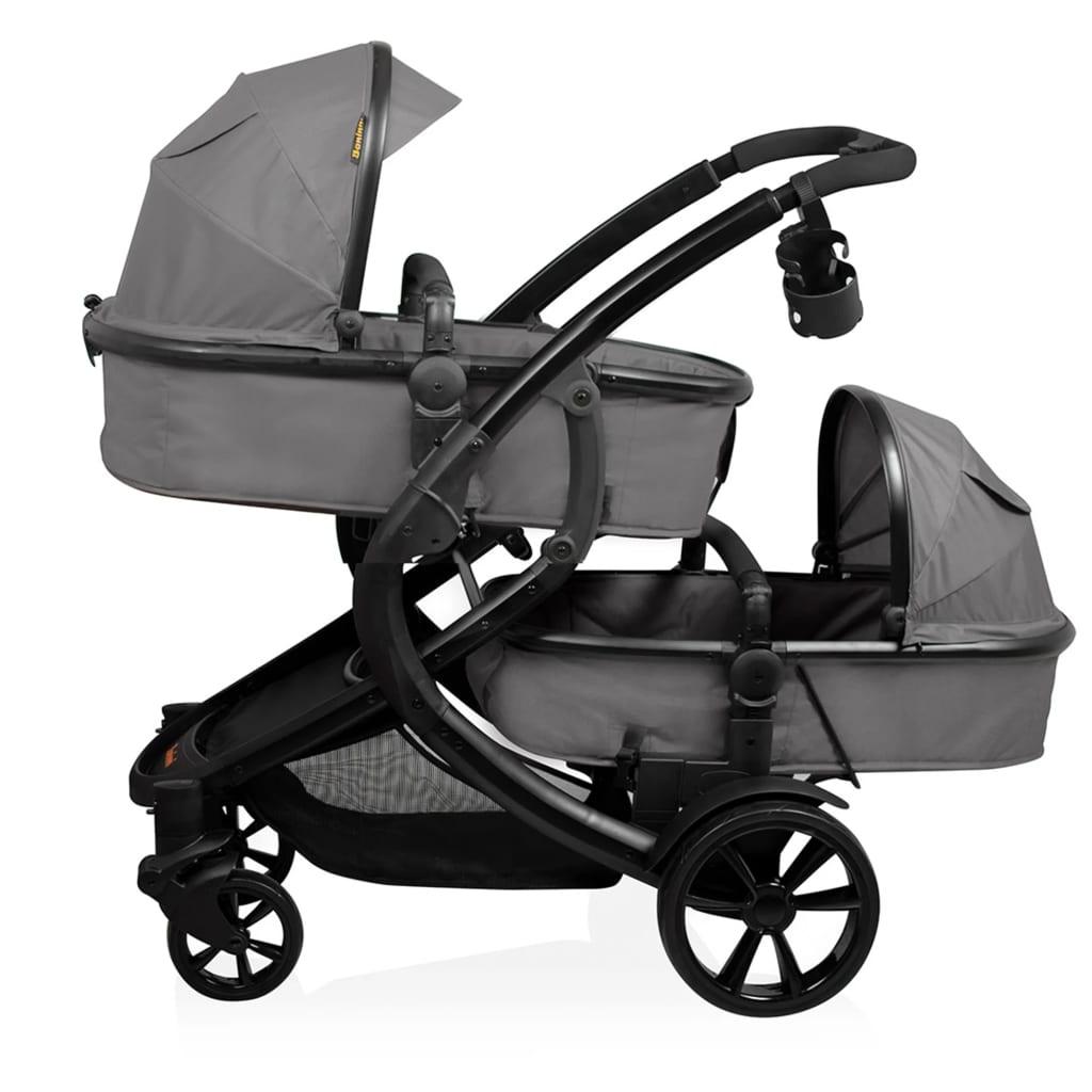 Baninni Tweeling kinder--wandelwagen Doppy grijs BNST030-GY