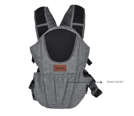 Baninni 2-in-1 Baby Carrier Sacco Prestigio Melange Grey BNBC004-GY[3/3]