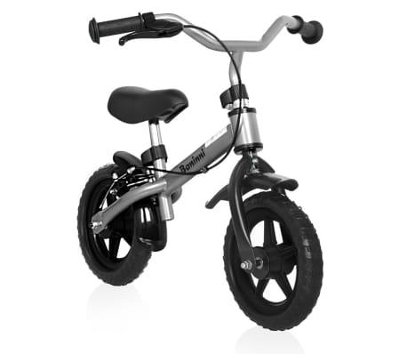 Baninni Loopfiets Wheely zwart en zilver BNFK012-SI