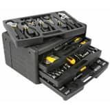Toolland Boîte à outils 99 pcs Noir HST0099