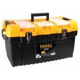 Perel Boîte à outils avec loquets métalliques 56,4 x 31 x 31 cm OM22M