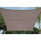Perel Voile d'ombrage carrée 3,6 m Taupe GSS4360TA