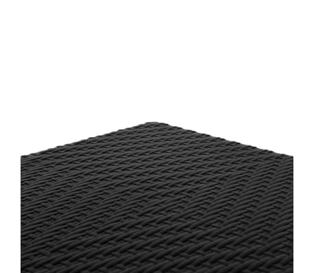 Perel Klapbank met rieten patroon vierkant zwart FP62R[3/4]