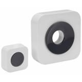 Perel Wireless Doorbell Battery-operated White EDB8
