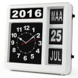 Velleman Zegar ścienny z kalendarzem klapkowym, WCF1NL