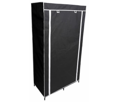Perel Armario plegable 88x45x160 cm negro MP67[1/5]
