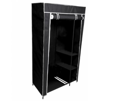 Perel Armario plegable 88x45x160 cm negro MP67[5/5]