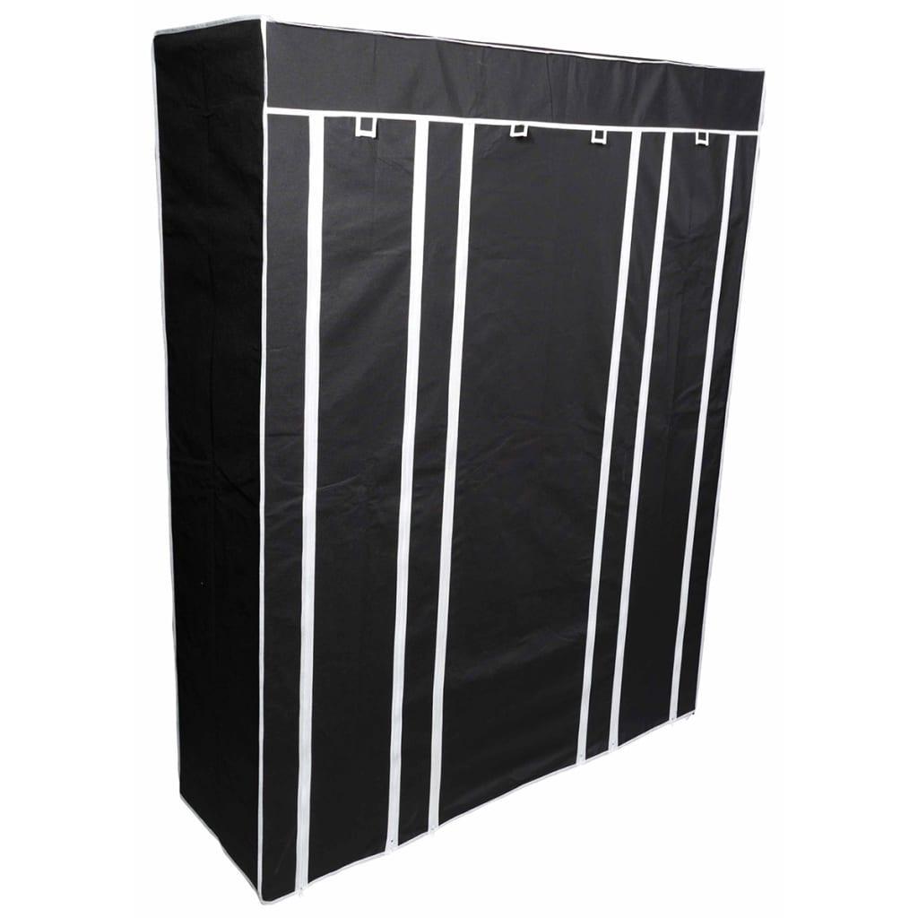 Afbeelding van Perel Kledingkast inklapbaar 135x45x170 cm zwart MP68