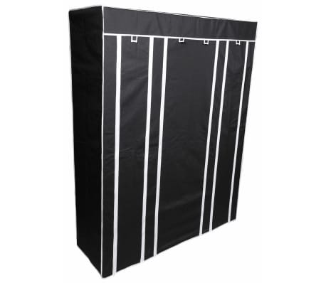 Perel Armario plegable 135x45x170 cm negro MP68[1/4]