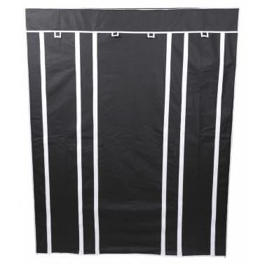 Perel Armario plegable 135x45x170 cm negro MP68[4/4]