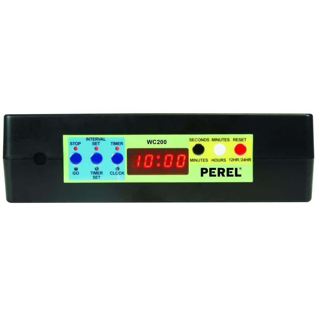 Perel Klok met timer zwart