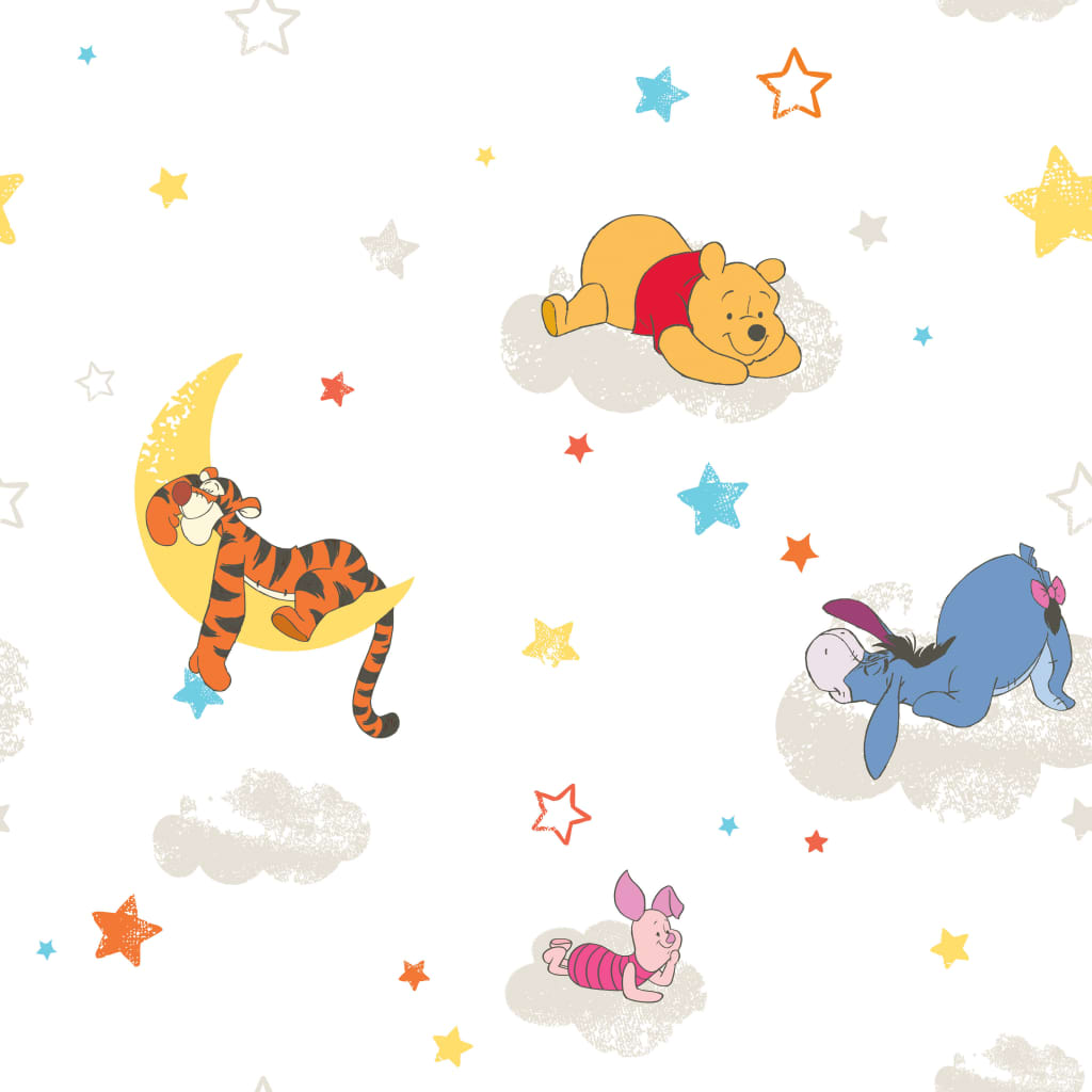 Kids at Home Tapet Pooh Rise and Shine, alb, DF70799 vidaxl.ro