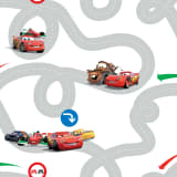 Kids at Home Tapete Cars Racetrack Mehrfarbig DF72599
