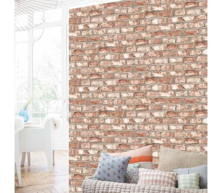Dutch Wallcoverings Behang.Details About Dutch Wallcoverings Wallpaper Bricks Red Home Wall Covering Sheet Decor Ew3102