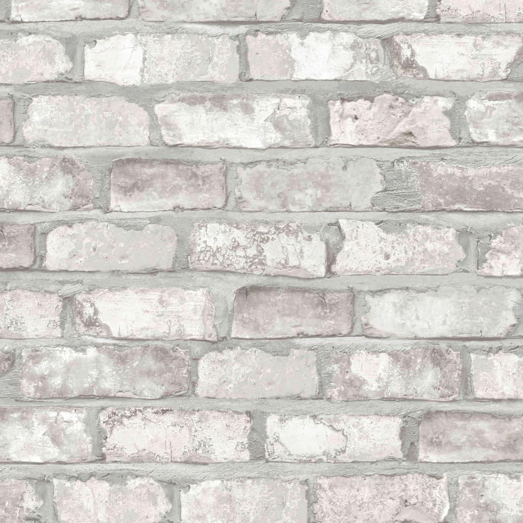 Afbeelding van DUTCH WALLCOVERINGS Behang bakstenen wit EW3104