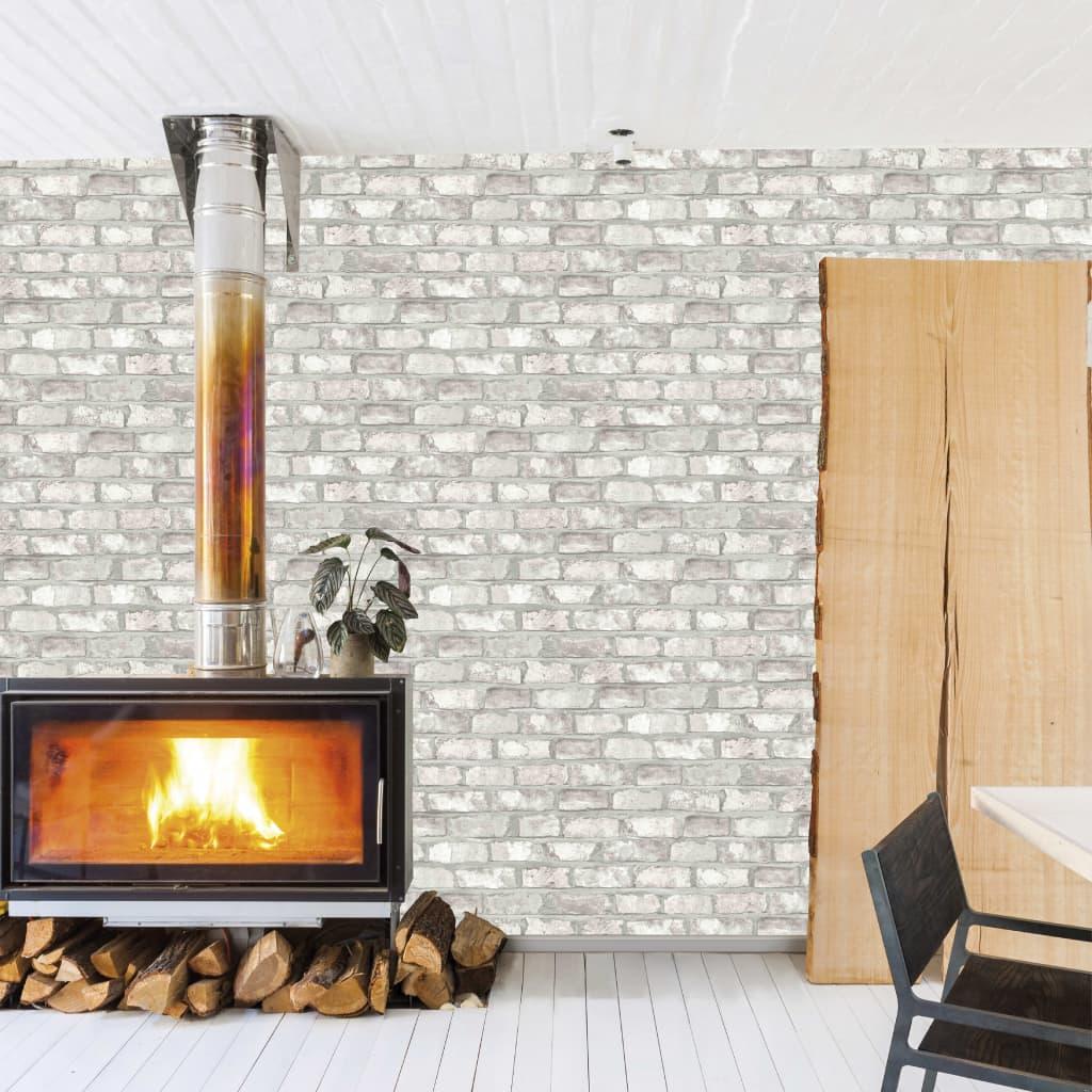 DUTCH WALLCOVERINGS Behang bakstenen wit EW3104