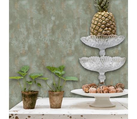 Dutch Wallcoverings Behang.Dutch Wallcoverings Wallpaper Concrete Green Home Wall Covering