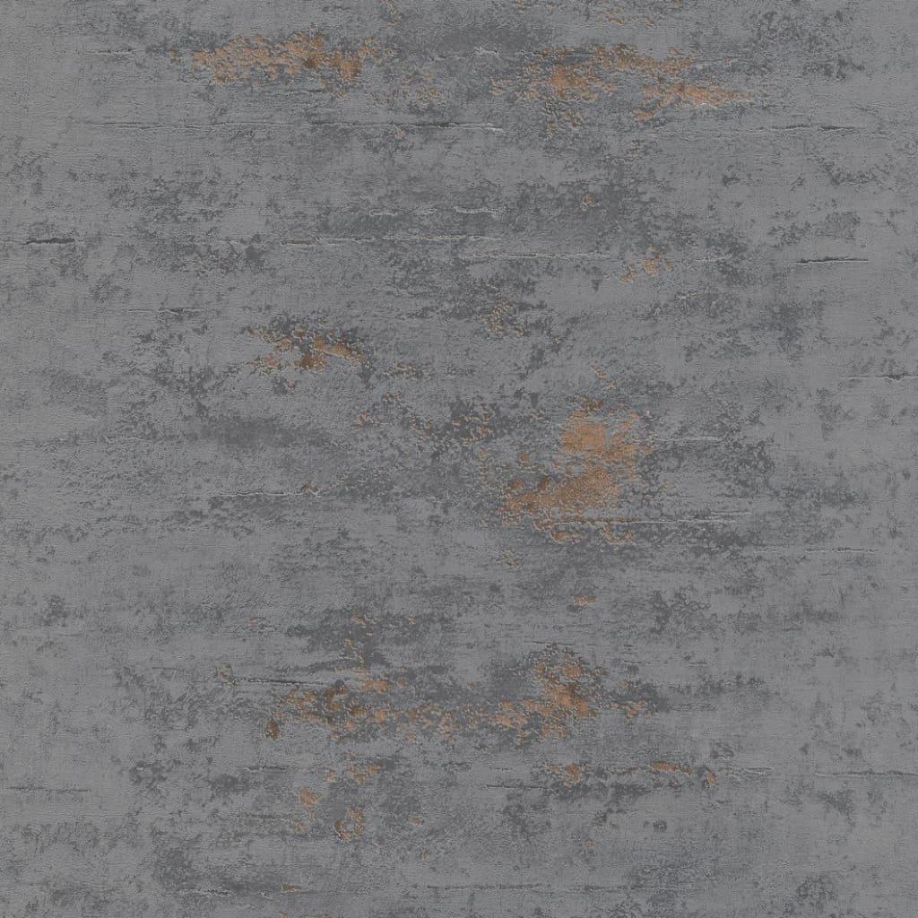 Topchic Tapet, stil beton, gri și cupru vidaxl.ro