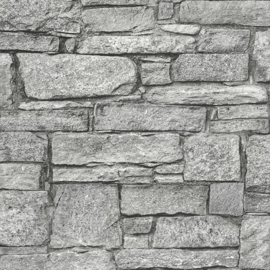 DUTCH WALLCOVERINGS tapet gamle mursten grå