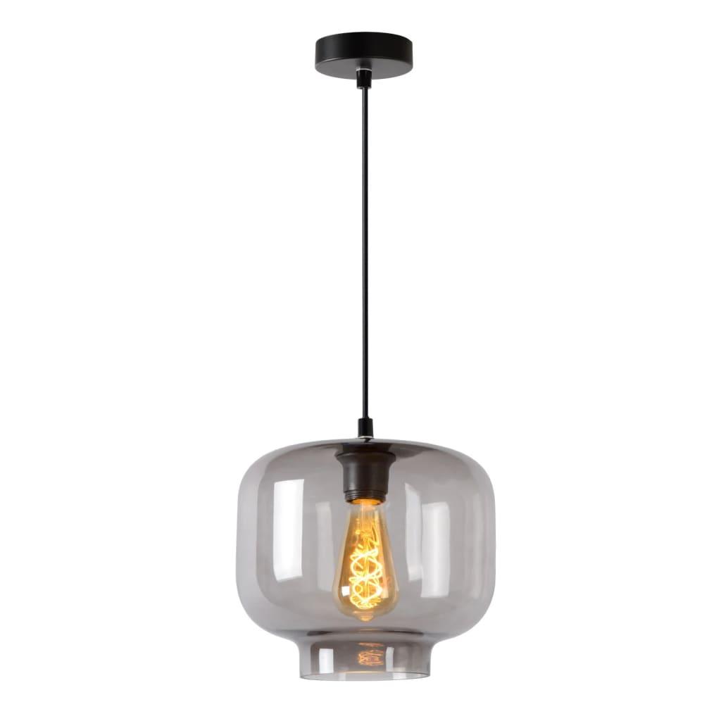 Met hanglamp Medine haal je een moderne blikvanger in huis. Het lichtpunt is omgeven door een glazen stolp in gerookt glas. Dat maakt Medine extra smaakvol. Dankzij de reflecties van het glas krijgt de lamp zelf alle aandacht. Daarom kies je voor een optimaal effect bij voorkeur voor een filamentlamp. Bij de installatie stel je de pendel eenvoudig af op de gewenste hoogte (van 50 tot 156 centimeter) en sluit je hem eenvoudig aan op een dimmer. Monteren doe je in 1, 2, 3 door de bevestigingsplaat vast te schroeven aan het plafond.