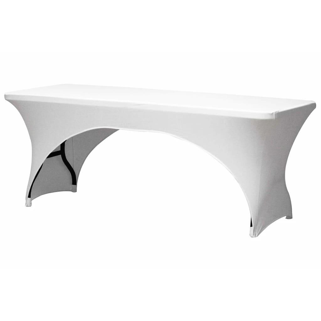 Afbeelding van Perel Tafelhoes voor rechthoekige tafel gebogen wit FP400