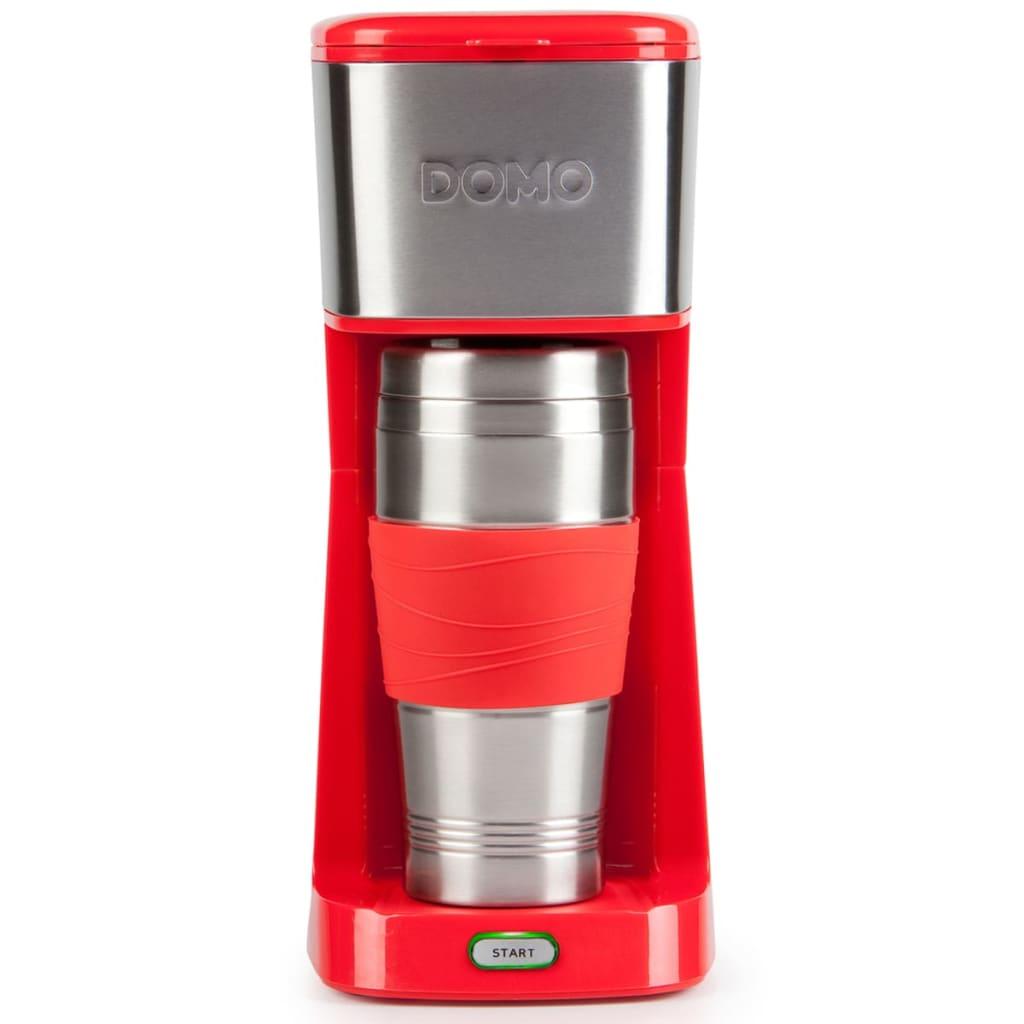 Afbeelding van DOMO Koffiezetapparaat 2-in-1 650 W rood DO438K