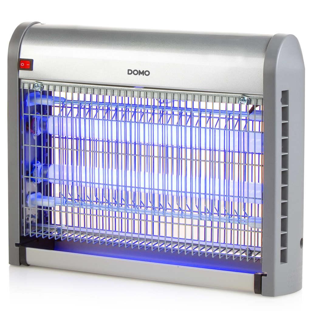 DOMO Lapač hmyzu s UV světlem 20 W 2 500 V stříbrný