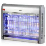 DOMO Lámpara antimosquitos con luz UV 20 W 2500 V plateada