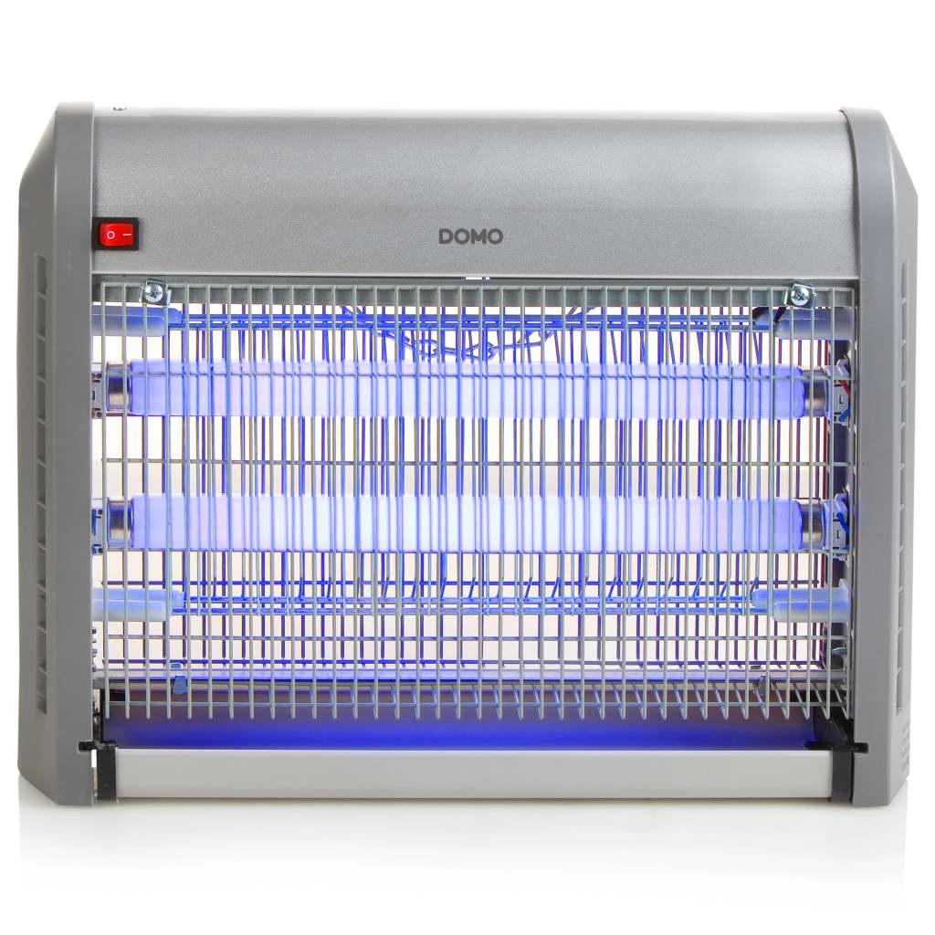 DOMO Insectendoder met uv verlichting 20 W 2500 V zilverkleurig