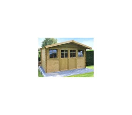 Solid Abri de jardin en bois double porte 10 m² Dole