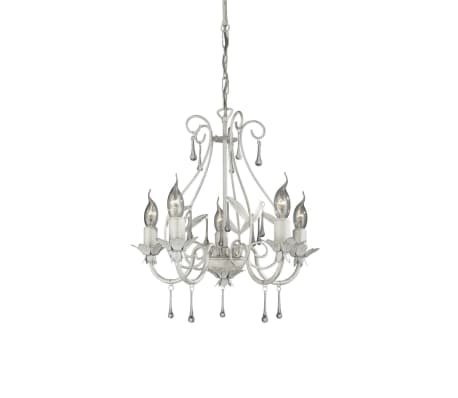 Massive Madison Chandelier White 5 X 60 W 230 V Vidaxl Co Uk