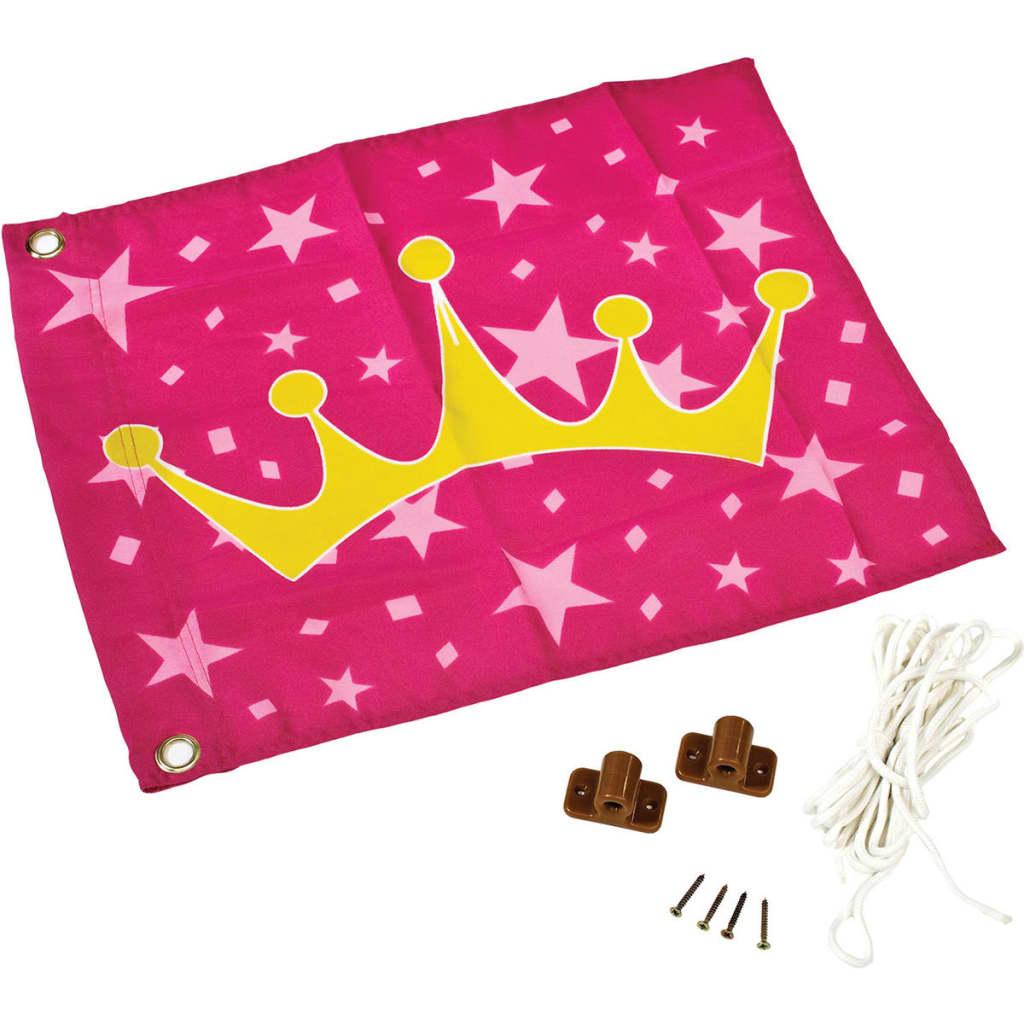 Afbeelding van AXI Prinsessen kroon vlag roze en geel 55x45 cm A507.010.00