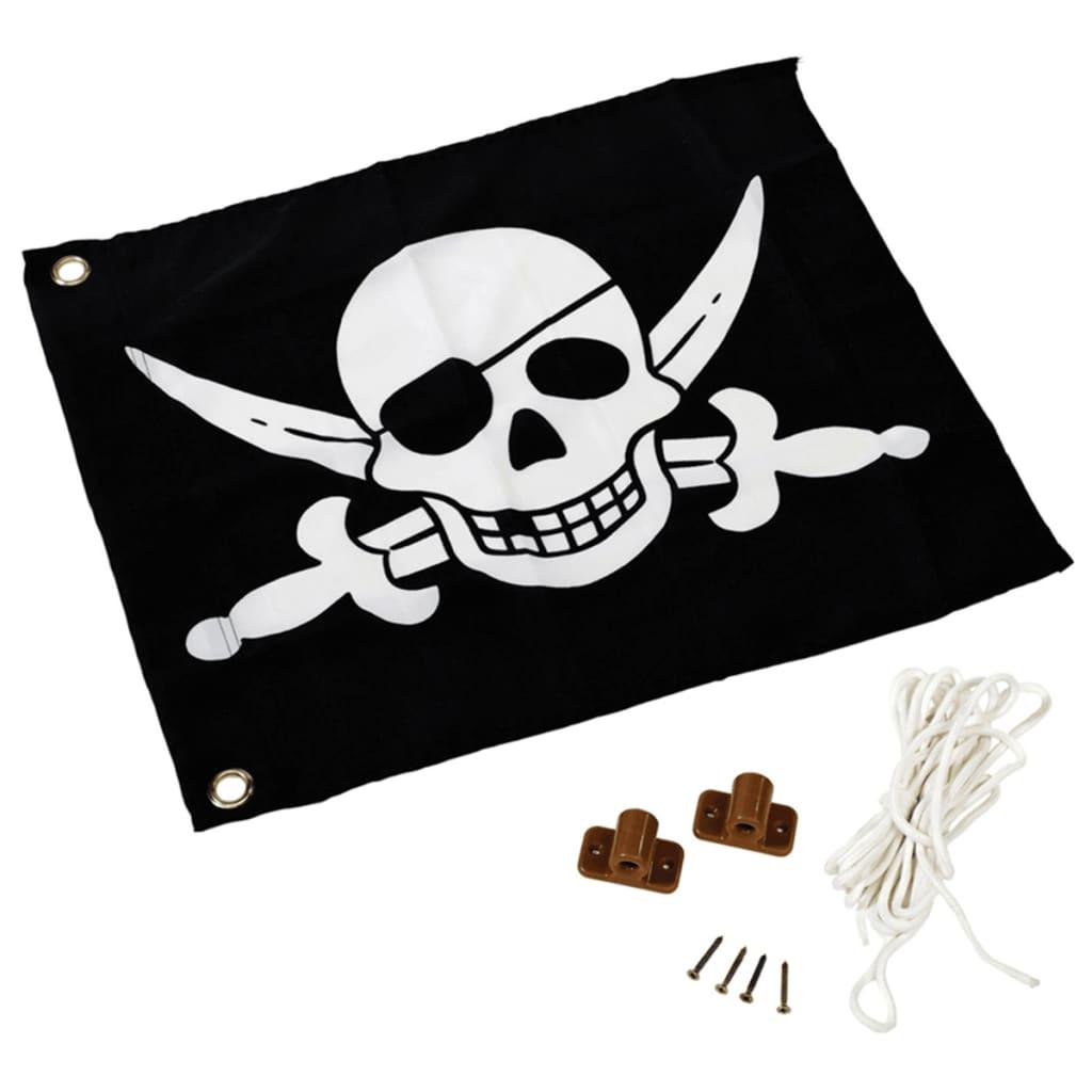 Afbeelding van AXI Piratenvlag zwart-wit 55x45 cm A507.012.00