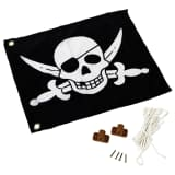 AXI Pirate Flag Black and White 55x45 cm A507.012.00