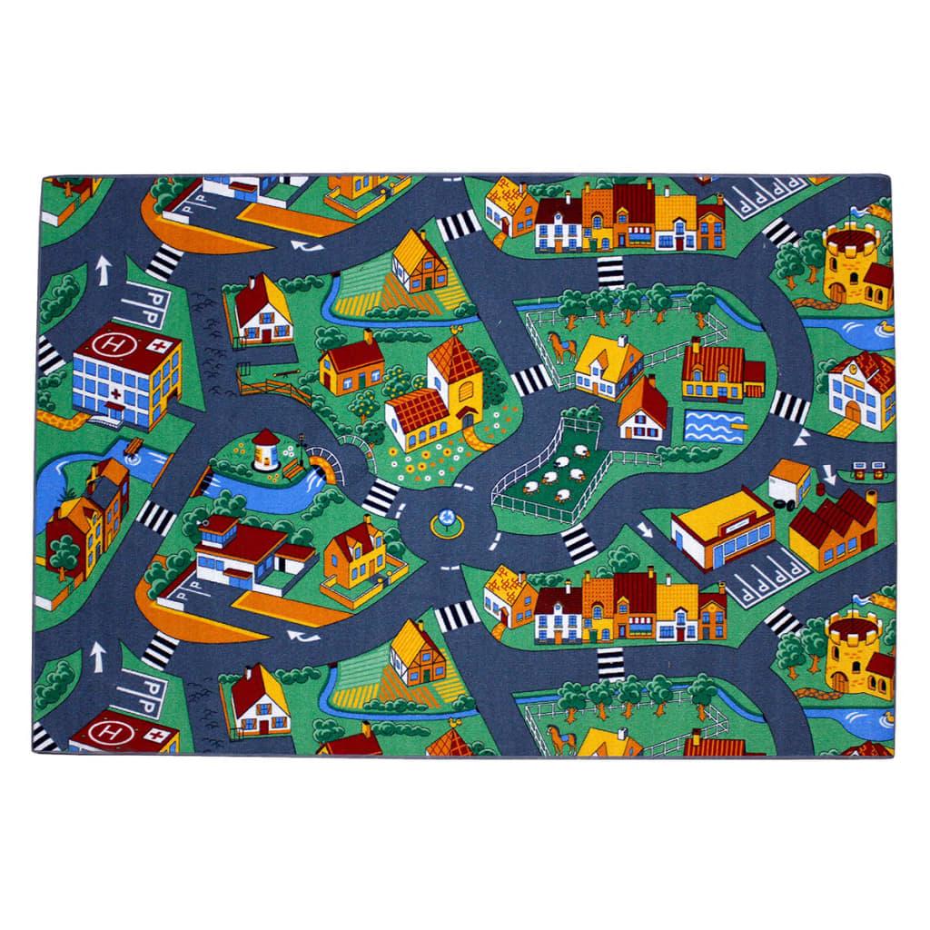 AK Sports Covoraș de joacă cu străzi și orășel, 140x200 cm, 0309004 poza vidaxl.ro
