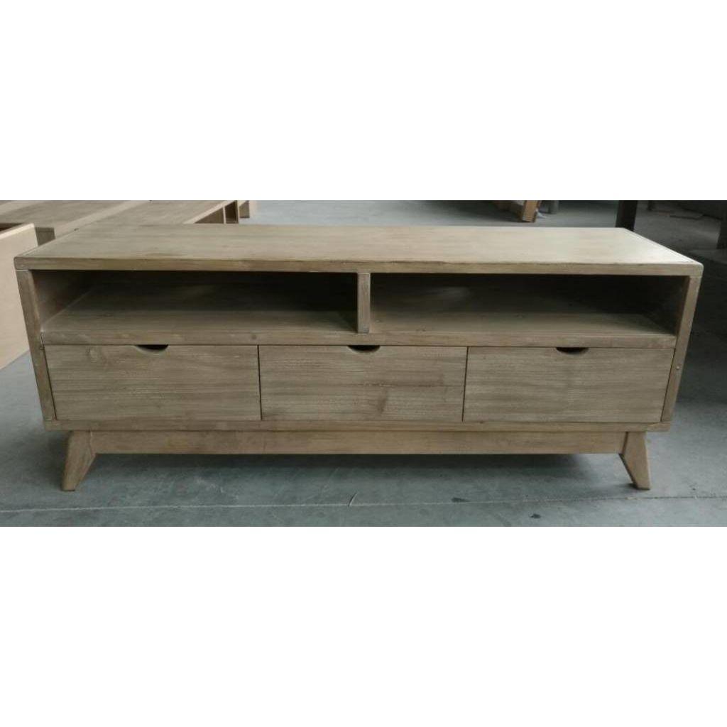Duverger TV-meubel in spar met 3 laden 132X32X52CM