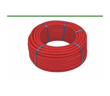 50ml multicouche gainé rouge 10bar-95°-Alu 0,2mm-Ø26x3.0