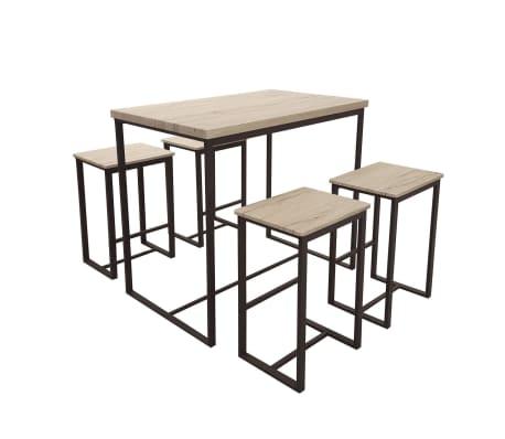 Table haute avec tabourets industrielle Dock - Noir[2/2]