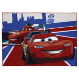 AK Sports Alfombra de juego Cars Rayo McQueen+Francesco 95x133 CARS 26
