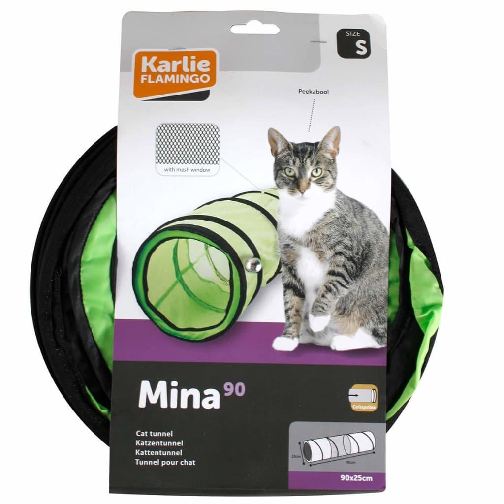 Afbeelding van FLAMINGO Katten speeltunnel 25x90 cm groen 1030810