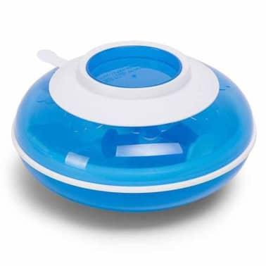 CHILDHOME Assiette chauffante avec fourchette et cuillère Bleu[1/2]
