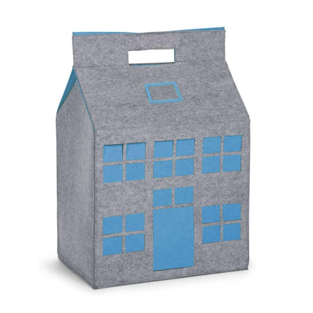 Afbeelding van CHILDWOOD Speelgoed opbergdoos grijs en turquoise 50 x 35 x 72 cm CCFPT