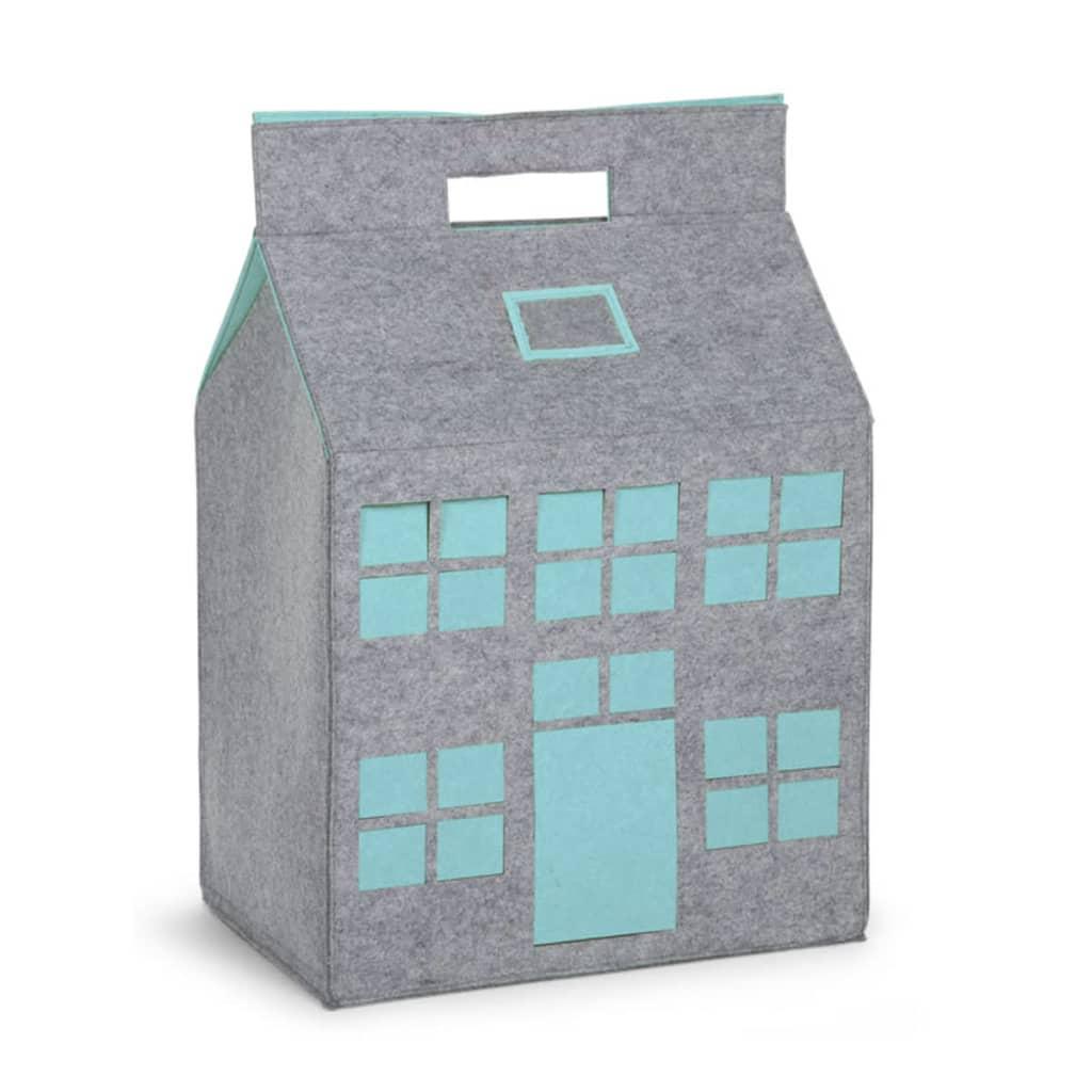 Afbeelding van CHILDWOOD Speelgoed opbergdoos grijs en mint 50 x 35 x 72 cm CCFPMB