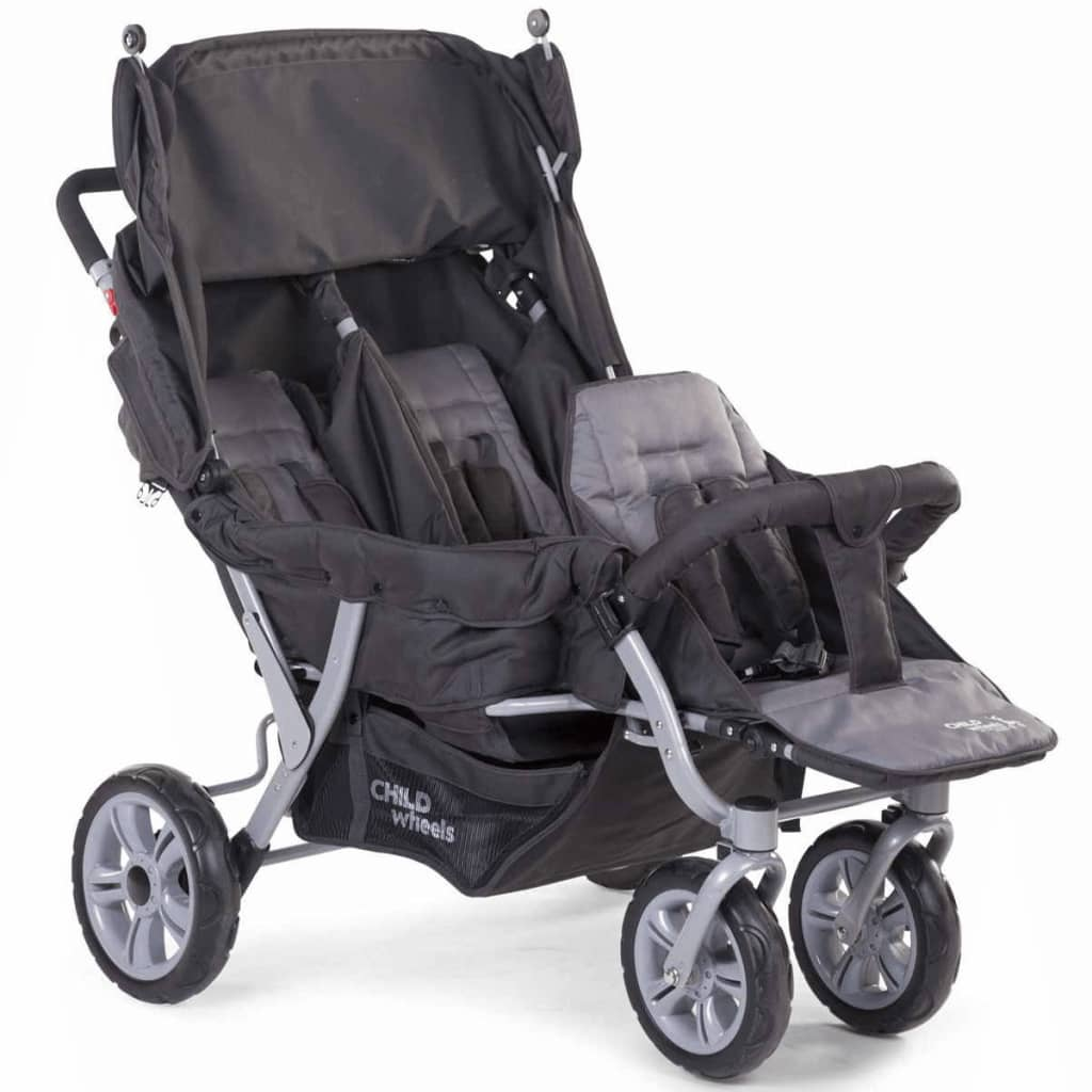 Image of CHILDWHEELS Passeggino Trigemellare Antracite CWTRIP