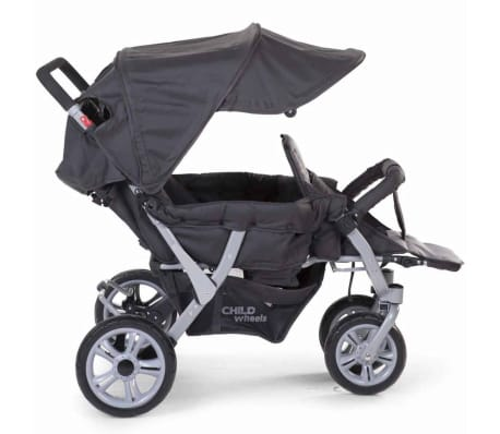 CHILDWHEELS Drillinge-Kinderwagen Anthrazit CWTRIP[4/8]