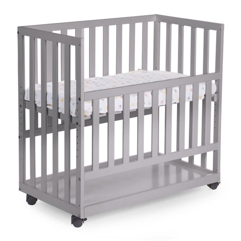 Afbeelding van CHILDWOOD Bedkant wieg grijs 50x90 cm beukenhout BSCNSG