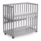 CHILDWOOD Baby-Beistellbett 50x90 cm Buche Grau BSCNSG