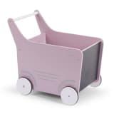 CHILDWOOD Houten speelgoed wandelwagen roze WODSTRP