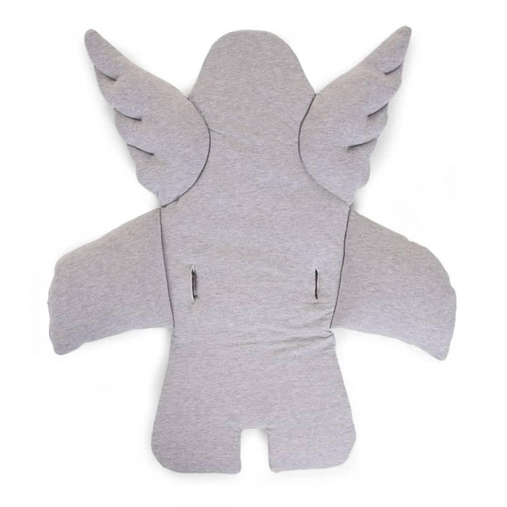 Afbeelding van CHILDWOOD Universeel stoelkussen engel katoen grijs CCASCGR